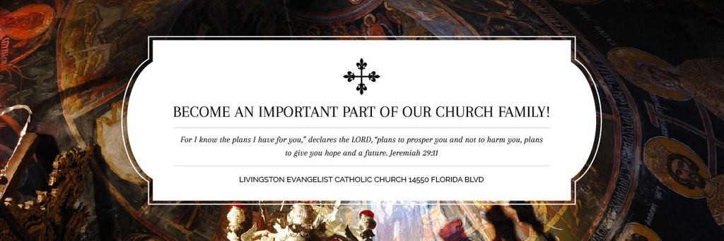 Livingston Evangelist Catholic Church — ein Design erstellen