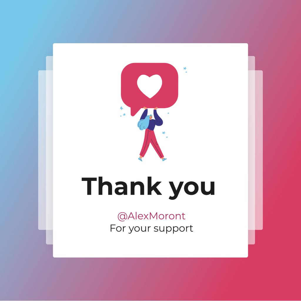 Thank You message with Like — Modelo de projeto