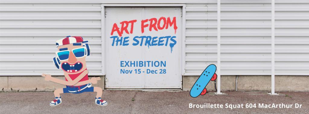 Funny skateboarder dancing on backstreet — Create a Design