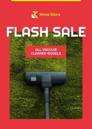 Plantilla de diseño de Flash Sale Vacuum Cleaner on Carpet Flayer