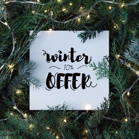 Ontwerpsjabloon van Instagram van Winter Sale in Christmas Wreath