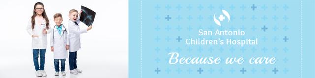 Children's hospital Ad Twitterデザインテンプレート