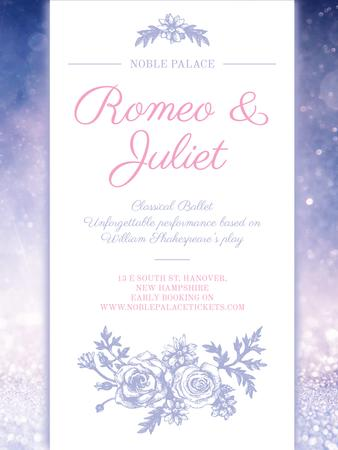 Romeo and Juliet ballet performance announcement Poster US – шаблон для дизайну