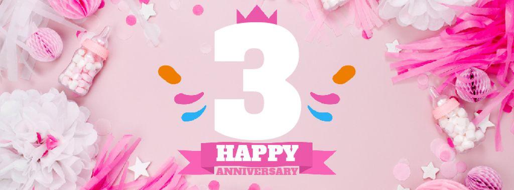 Anniversary celebration template — Создать дизайн