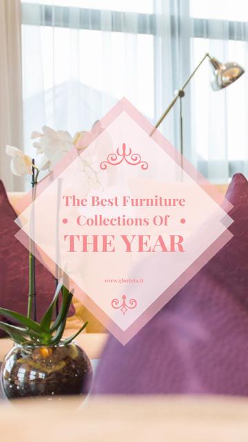 Cozy Living Room Interior Design Instagram Video Story Modelo de Design