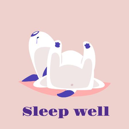 Template di design Funny Dog Sleeping in Pink Animated Post