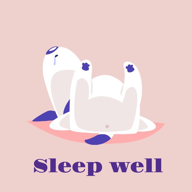 Funny Dog Sleeping in Pink Animated Post – шаблон для дизайну