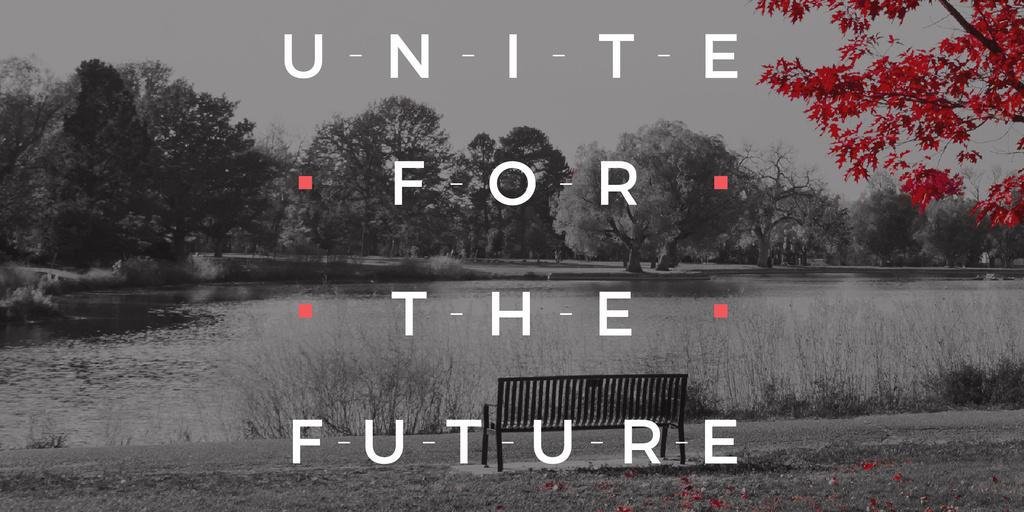 Concept of Unite for the future  — Maak een ontwerp