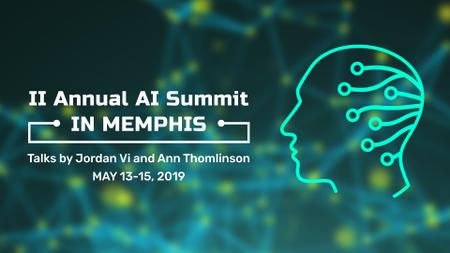 Artificial Intelligence Summit Invitation Head Icon Full HD video Modelo de Design