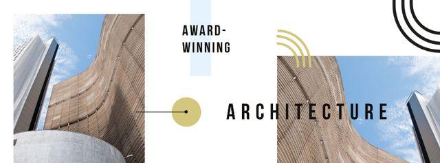Modern city buildings Facebook coverデザインテンプレート