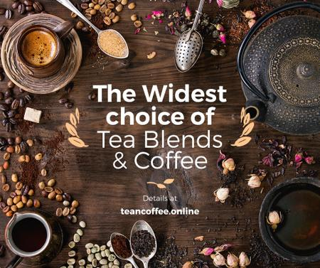 Ontwerpsjabloon van Facebook van Coffee and Tea blends Offer