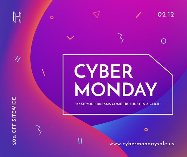Template di design Cyber Monday sale announcement Facebook