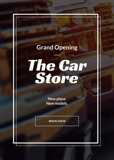 Plantilla de diseño de Car store grand opening announcement Flayer