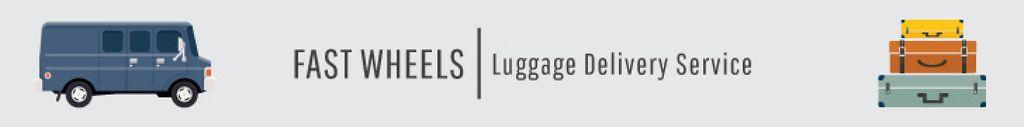 Luggage delivery service banner — Modelo de projeto