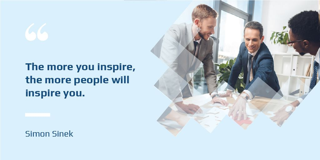 Business Quote with Colleagues working in Office — Crear un diseño