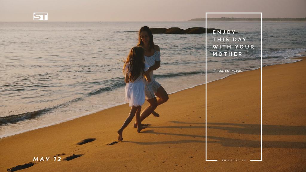 Mother and daughter by the sea — ein Design erstellen