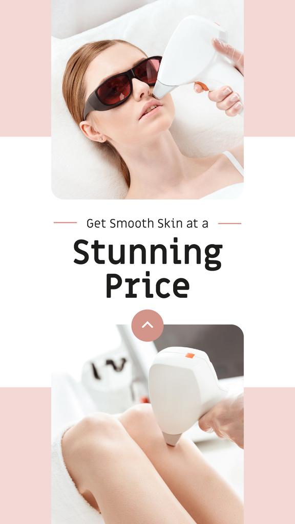 Salon promotion Woman at Laser Hair Removal — Créer un visuel
