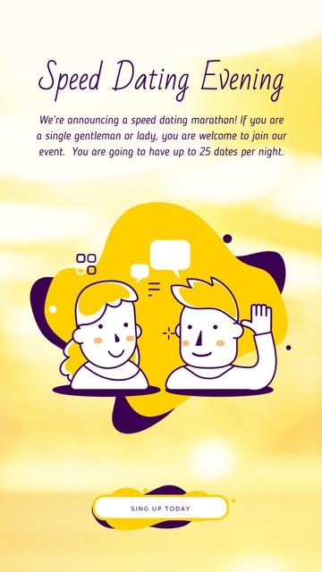 Dating Service Ad Couple Having Conversation Instagram Video Story – шаблон для дизайну