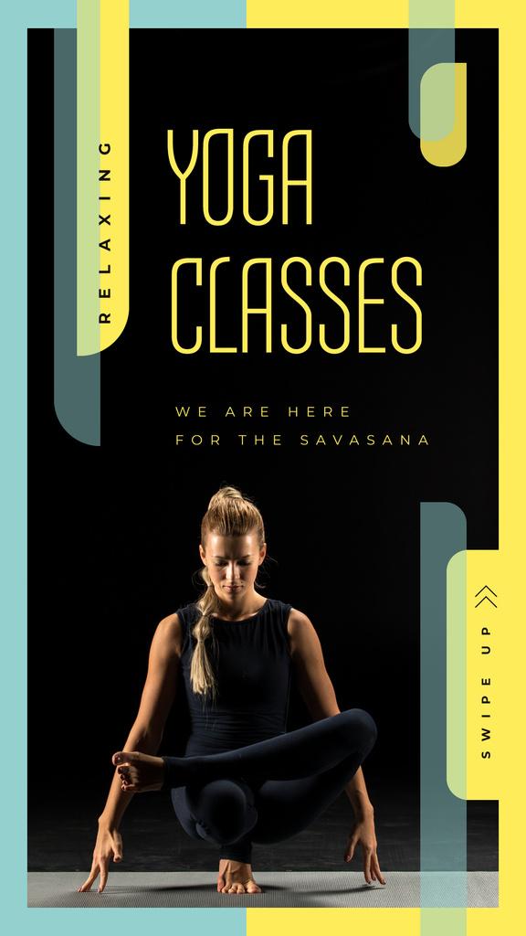 Woman practicing yoga — Создать дизайн