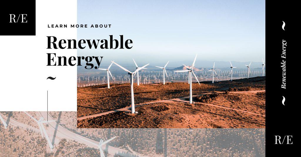 Wind turbines farm Facebook AD Modelo de Design