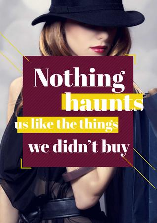 Plantilla de diseño de Quotation about shopping haunts Poster