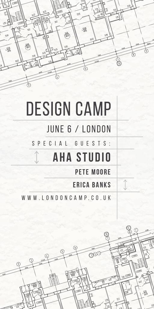 Design camp announcement on blueprint — Crea un design
