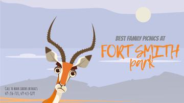 Nature Park Invitation Wild Antelope in Habitat