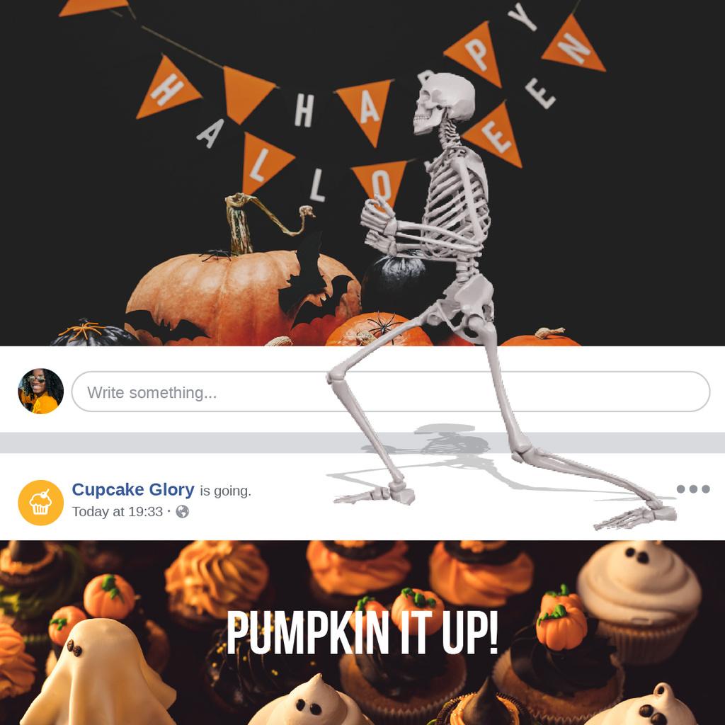 Halloween with Funny dancing skeleton — Crear un diseño