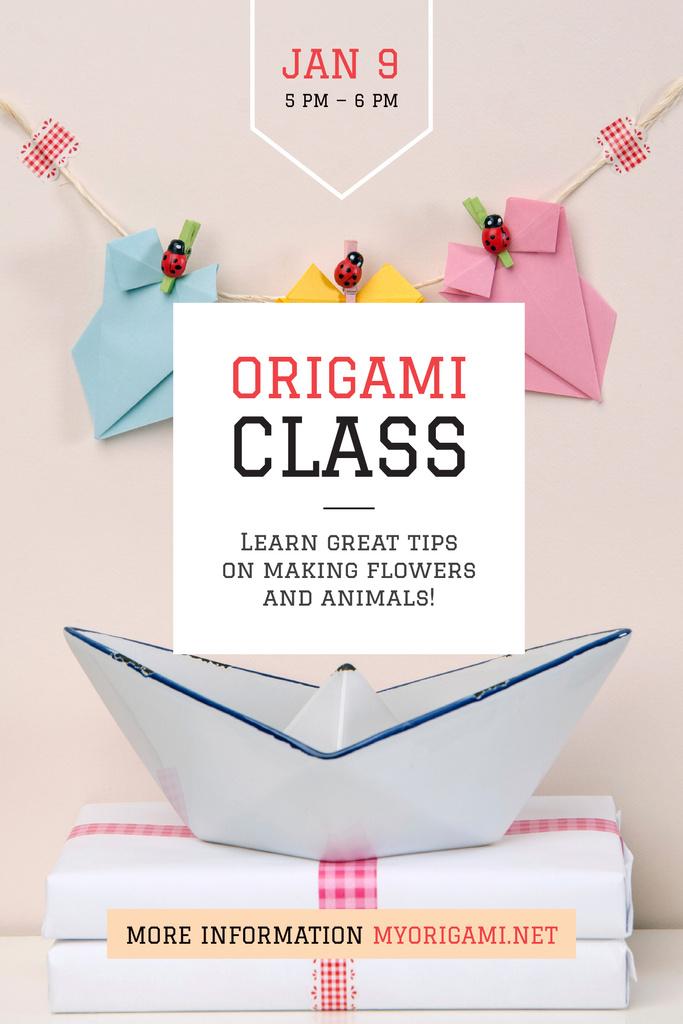 Origami class Announcement — ein Design erstellen