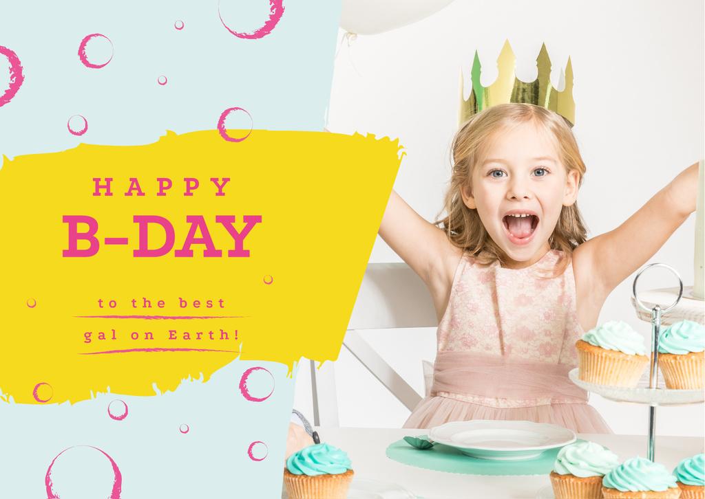 Little girl celebrating birthday — Create a Design