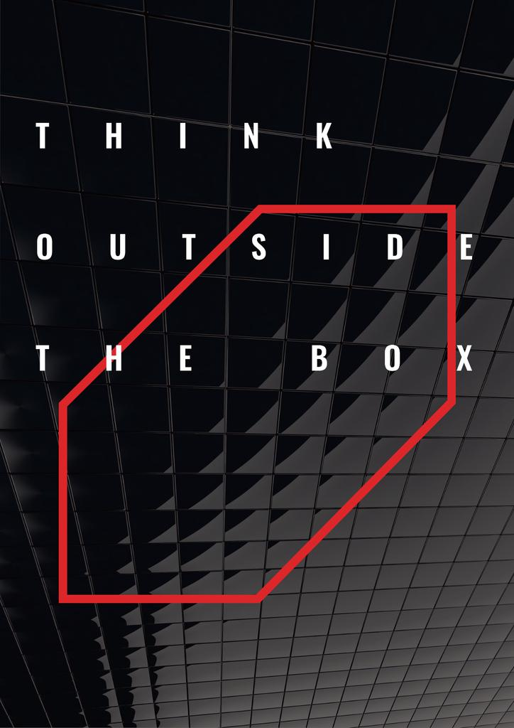 Think outside the box citation — Créer un visuel