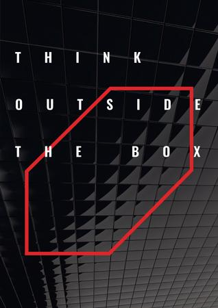 Modèle de visuel Think outside the box citation - Poster