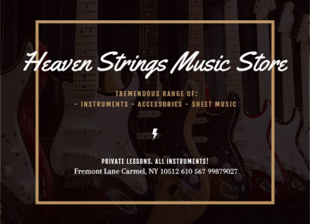 Heaven Strings Music Store — Create a Design