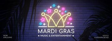 Mardi Gras crown neon light