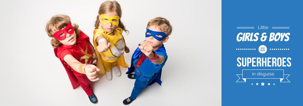 Kids in Superheroes Costumes — Создать дизайн