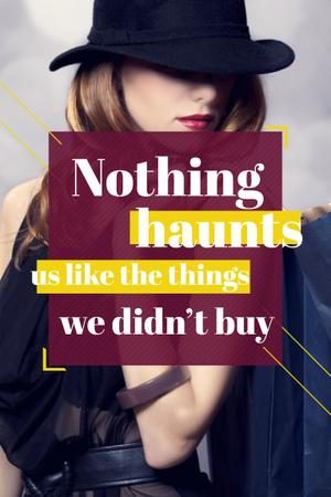 Quotation about shopping haunts Pinterest – шаблон для дизайну