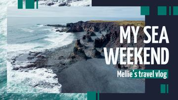 Sea Weekend Inspiration Rocky Coast View | Youtube Thumbnail Template