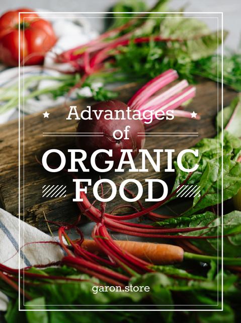 Plantilla de diseño de Healthy Food Raw Vegetables and Fruits Poster US