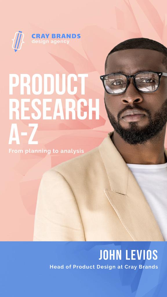 Product Design Company Ad Confident Businessman — Создать дизайн