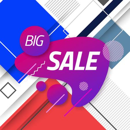 Sale Announcement with Moving Blots and Rectangles Animated Post – шаблон для дизайну