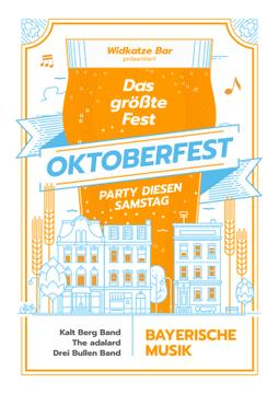 Oktoberfest Party Invitation Giant Mug in City | Poster Template
