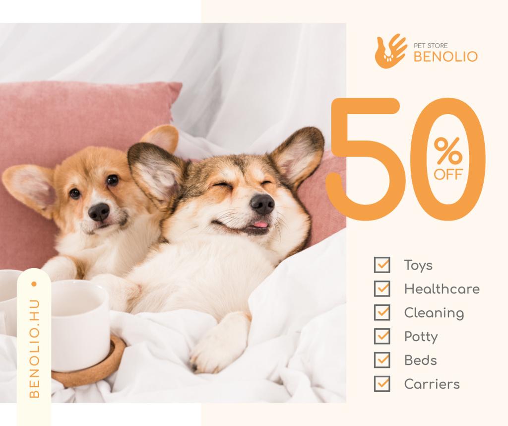 Pet store sale cute Corgi Puppies — ein Design erstellen