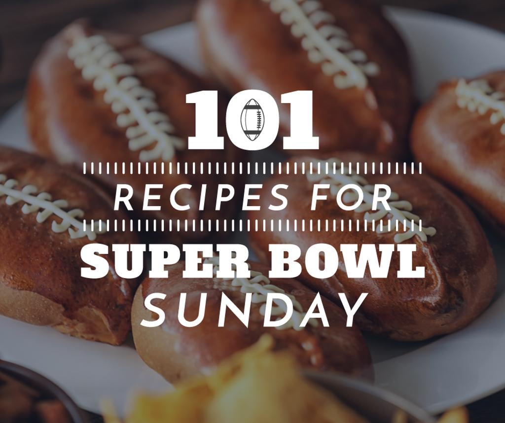 101 recipes for super bowl poster — Crea un design