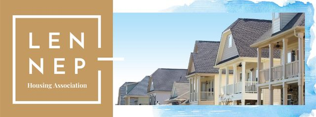 Plantilla de diseño de Modern house facade Facebook cover