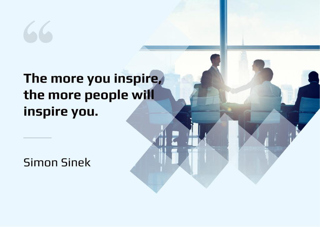 Group of business people in office with inspirational quote  — Create a Design