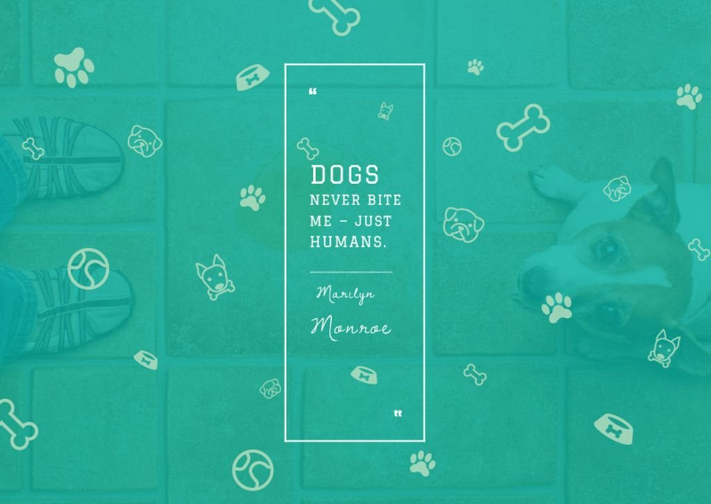 Citation about good dogs — Crea un design