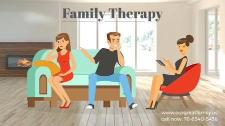Ontwerpsjabloon van Full HD video van Family Therapy Center Ad