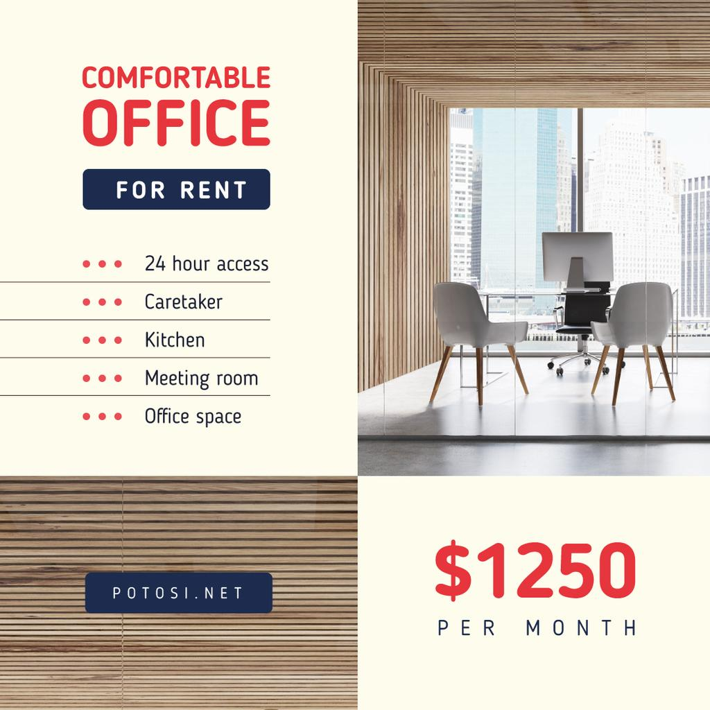 Real Estate Offer Light Office View | Instagram Post Template — Créer un visuel