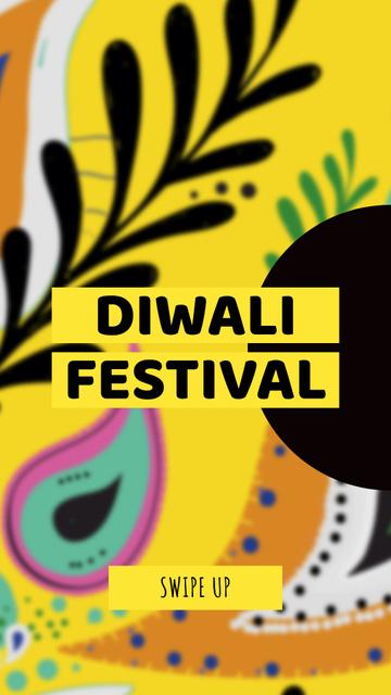 Template di design Happy Diwali celebration event Instagram Story