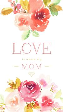 Mother's Day Greeting with Tender spring flowers